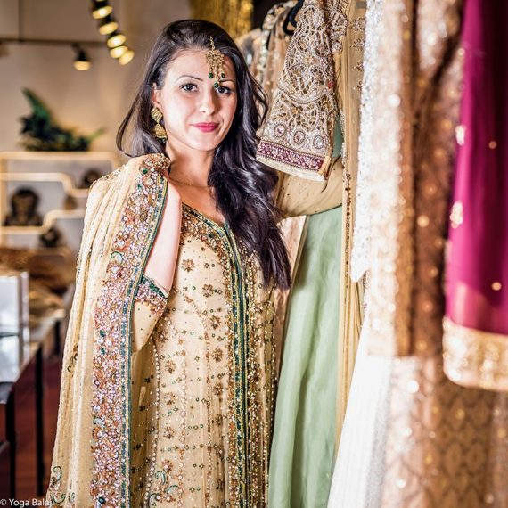BlueDress-pakistani wedding dresses
