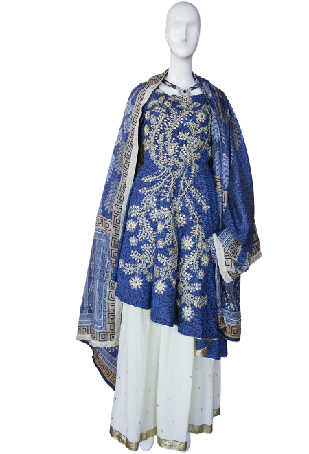 BlueThreePieceSuit womens outfits