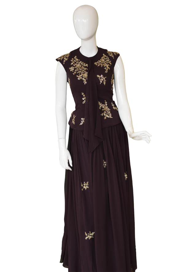 BrownOnePieceGown womens outfit