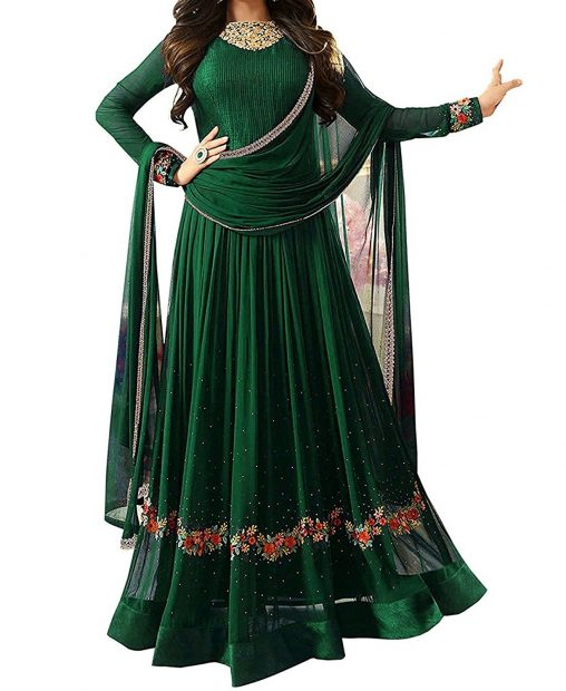 GreenChudidaar Pakistani dresses