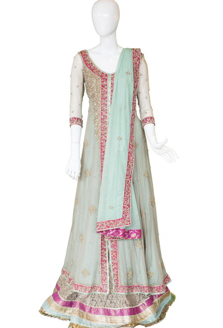 SeaBlueAnarkali Indian Design