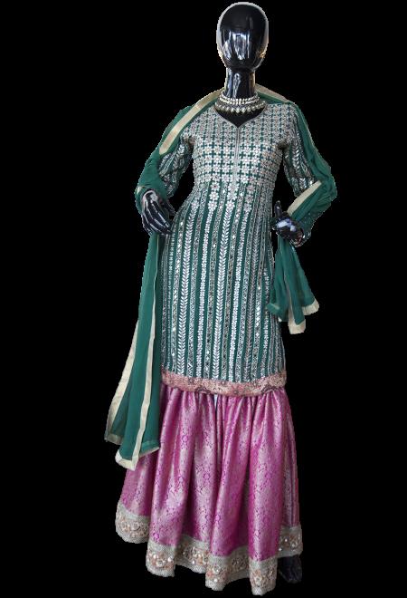 ThreePieceGhagraPantSuit Pakistani dresses